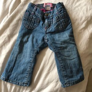 Old navy fleece lined jeans size 12-18 months